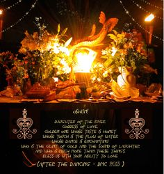 Oshun Altar - full moon for Oshun