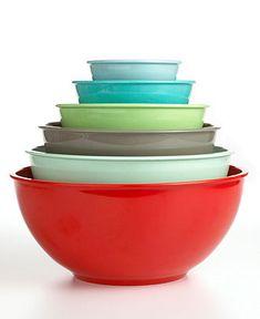 $29.99   Martha Stewart Collection Mixing Bowls, Set of 6 Melamine - Kitchen Gadgets - Kitchen - Macy's