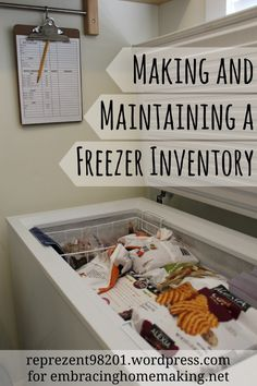 Getting your freezer organized! @Gayle Roberts Merry Homes and Gardens
