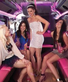 Party bus for the bachelorette to travel in style.
