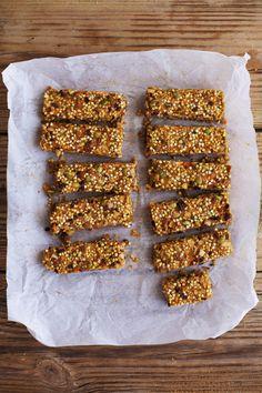 sweet potato buckwheat snack bars with cardamom