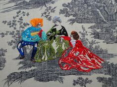 NEW Embroidery work on toile from textile artist, Richard Saja! Historically Inaccurate: Gutter, Goth & Westwood