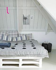 Cama de pallets 6 Camas hechas con pallets
