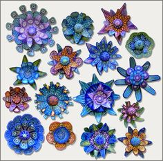 """Carol Simmons - """"Microcosms"""" - largest piece is about 3.5 cm (1.4 in) across"""