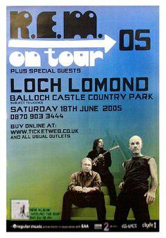 REM concert  Posters   ... Lomond Live - Giant Original Promo Poster   Flickr - Photo Sharing