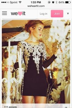 Dress: little black lace semi formal black black and white cute long sleeve