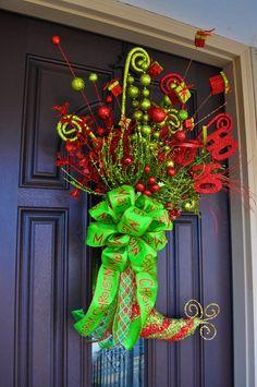 Whimsical Christmas Wreath Christmas Wreath