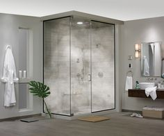 What's in your dream bathroom? One of our top picks is a home spa and steam shower. So relaxing! We're giving away three Steamist Total Sense Home Spa System packages in The Great TOH Giveaway! Enter Now! | http://www.steamist.com/residential-steambaths/totalsense-home-spa-system/
