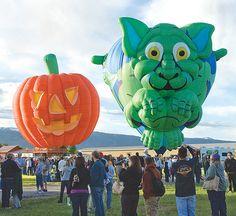 Halloween hot air balloons