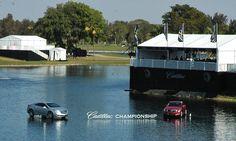 """""""Floating"""" #cars at #Doral #CadillacChamp"""