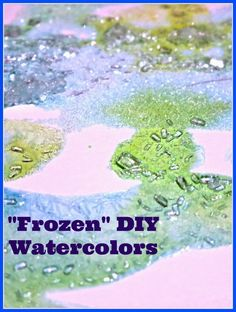 5 Minutes to Set Up  this easy activity for kids  - Frozen DIY Watercolors