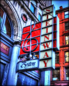 """""""The Old Steinway Piano Co. Sign"""", Boston."""