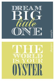 Nursery Prints - Customize the colors to fit the nursery