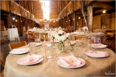 Beige Table Settings w variant jar/vase centerpieces