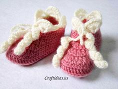 crochet baby booties-free pattern