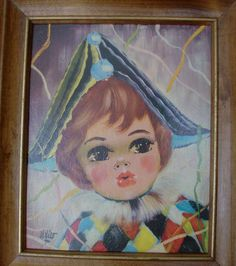 60s Framed Nico Clown Print by fromlosttofound on Etsy, $13.95