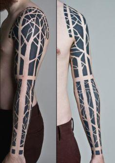 Blackwork tree tattoo - Tatuajesxd, Fotos y diseños de tatuajes