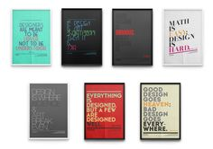 Tribute to Fonts by Moe Pike Soe, via Behance