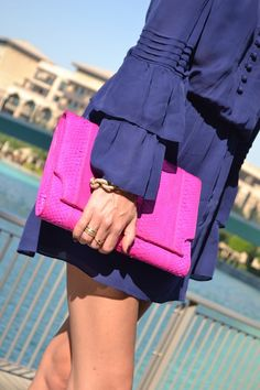 Pink and Navy