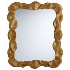 Baroque antiqued mirror