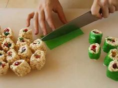 How to make candy sushi for a kid's samurai or Power Rangers party!  For a fun activity, try a sushi rolling station! You prepare all the ingredients, and they roll.