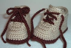 Baby Hiking/Work Boots Booties pattern by Marcia Peterson