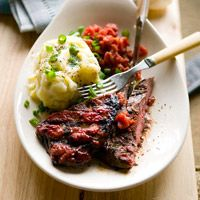 Steak with Buttermilk Mashed
