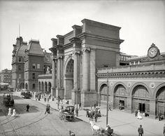 train station, boston, massachusett, circa 1905, union station