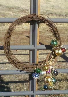 Western Christmas wreath from Chic2VintageCowgirl. | Stylish Western Home Decorating