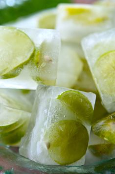 key lime ice cubes