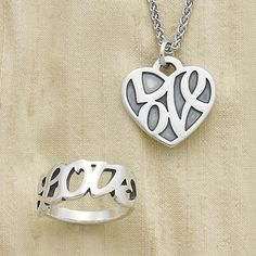 """""""Love"""" Heart Charm and Ring from James Avery Jewelry"""