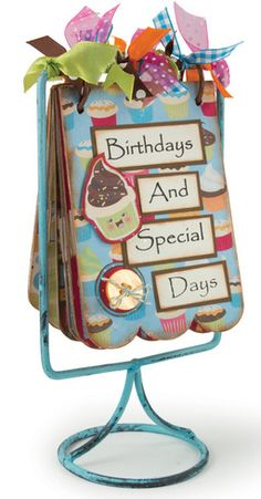 birthday calendar notebook