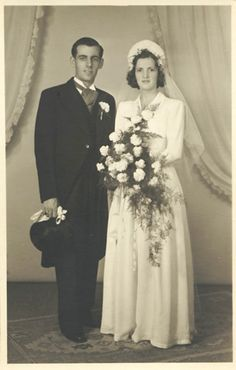 Bride and groom, 1950