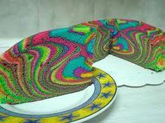 tie dye, rainbow cakes, disco cake, rainbows, 1st birthdays, parti, dyes, food cakes, birthday cakes