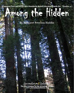 This Secondary Solutions Literature Guide for Among the Hidden contains 125 pages of student coursework, activities, quizzes, tests, and more aligned to CCS for grades 5-7; $