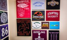 What to do with all those favorite t-shirts you don't wanna get rid of and with all your kids' sports tees or even all those military squadron t-shirts Home & Family - Tips & Products - DIY T-Shirt Canvases   Hallmark Channel