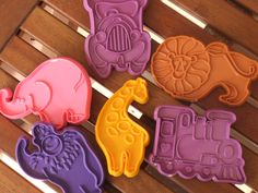 6 Circus cookie or clay cutters. $4.00, via Etsy.