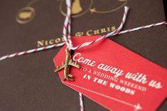 charm, airplanes, tag, paper, wedding invitations, modern weddings, white weddings, themed weddings, destination weddings
