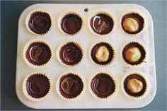 Dark Chocolate Almond Butter Cups from Sprouted Kitchen