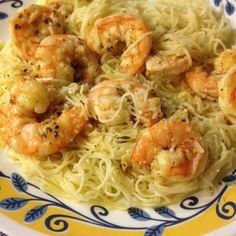 Roasted Lemon Garlic Herb Shrimp dinner, lemons, herb pasta, herbs, food, lemon garlic, recip, garlic herb shrimps, roast lemon