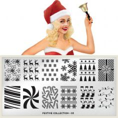 Festive Plate Collection 03 moyou.co.uk | info@moyoumarketing.com #moyoulondon #nailart #pinup #stamp #stamping #manicure #pinup #london #xmas #navidad #snowflakes
