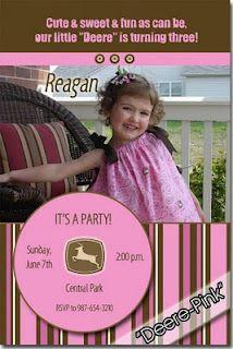 Pink John Deere Birthday
