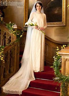 Lady Mary (Michelle Dockery) on her wedding day from Downton Abbey