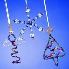 Bright Beaded Christmas Ornaments