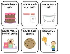 """""""How To"""" Sequencing Charades Cards {FREEBIE} Repinned by SOS Inc. Resources @SOS Inc. Resources."""