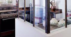 Verriere interieure on pinterest atelier petite cuisine - Cloison vitree interieure leroy merlin ...