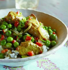 Easy Chicken Curry with Peas Recipe | http://aol.it/PVcLLd