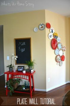 Decorative plate wall tutorial -Whats Ur Home Story