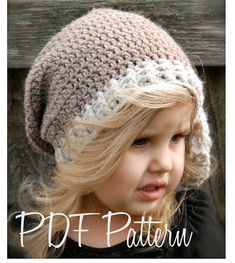 Crochet PATTERN-The Emileigh Slouchy (Toddler, Child, Adult sizes) via Etsy