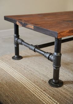 1000 images about metal pipe support structure on pinterest industrial pipe reclaimed wood desk and pipes black steel pipe furniture